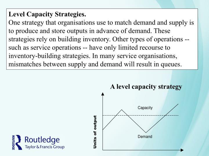 Level Capacity Strategies.