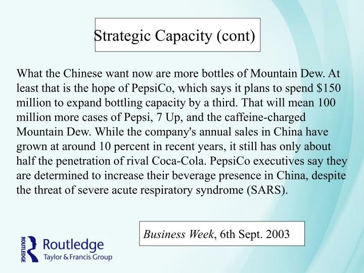 Strategic Capacity (cont)