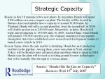 strategic capacity