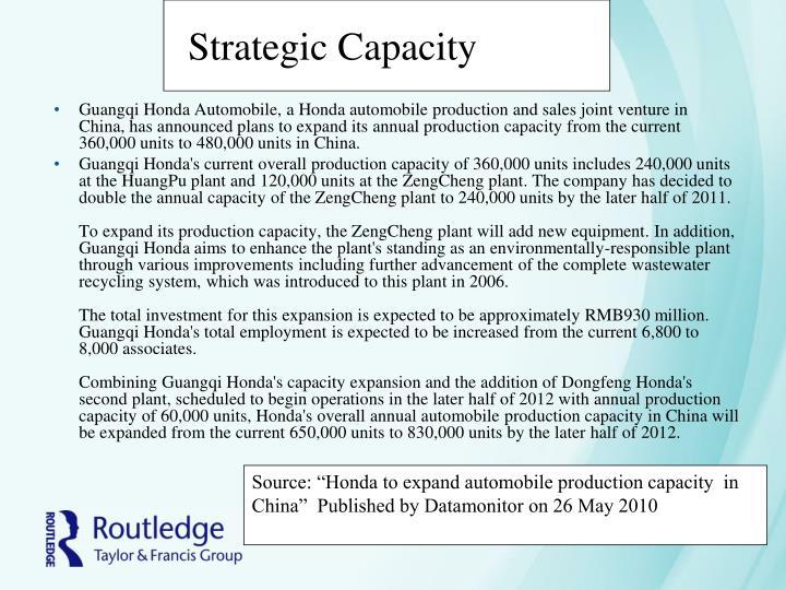 Strategic Capacity