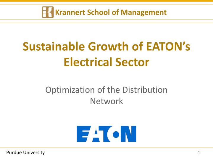Sustainable growth of eaton s electrical sector