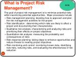what is project risk management