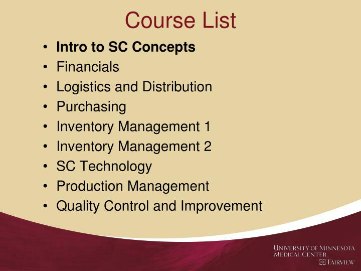 Course List