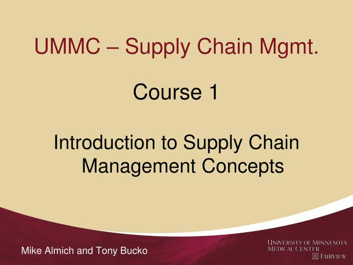 Ummc supply chain mgmt