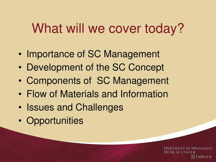 What will we cover today