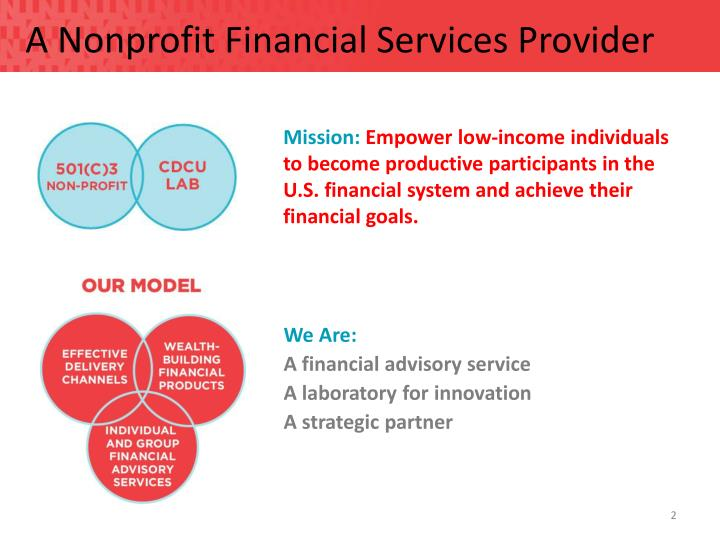 A Nonprofit Financial Services Provider