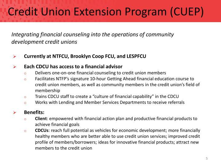 Credit Union Extension Program (CUEP)
