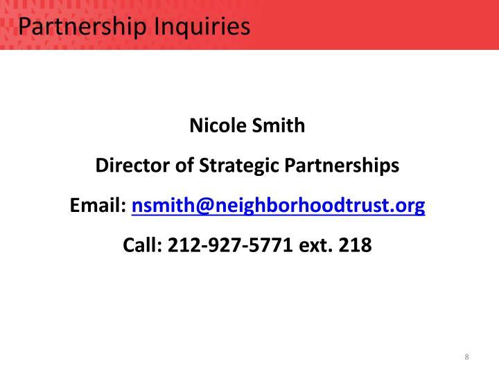 Partnership Inquiries