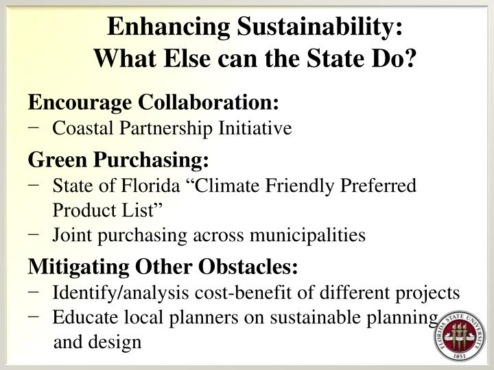 Enhancing Sustainability: