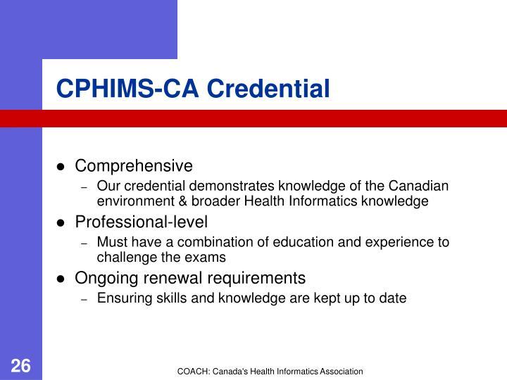 CPHIMS-CA Credential