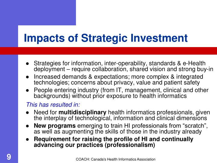 Impacts of Strategic Investment