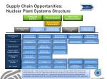 supply chain opportunities nuclear plant systems structure