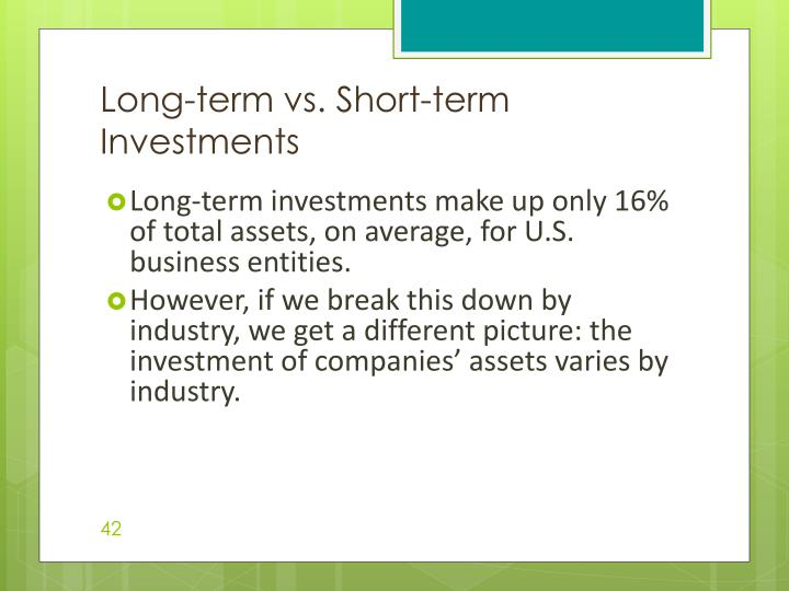 Long-term vs. Short-term Investments