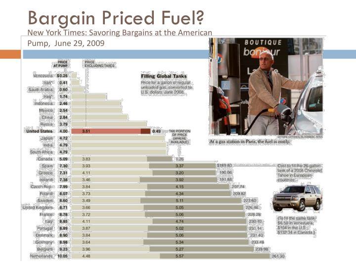 Bargain Priced Fuel?