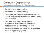 community opportunities create a resource efficient and resilient community4