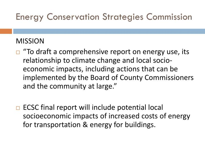 Energy Conservation Strategies Commission