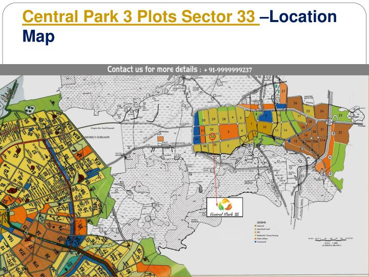 Central Park 3 Plots Sector 33