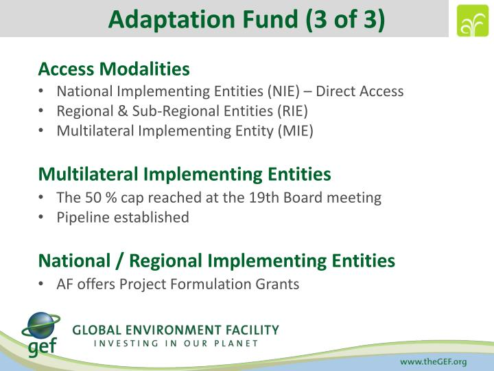 Adaptation Fund (3 of 3)