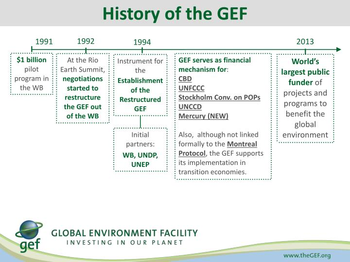 History of the GEF