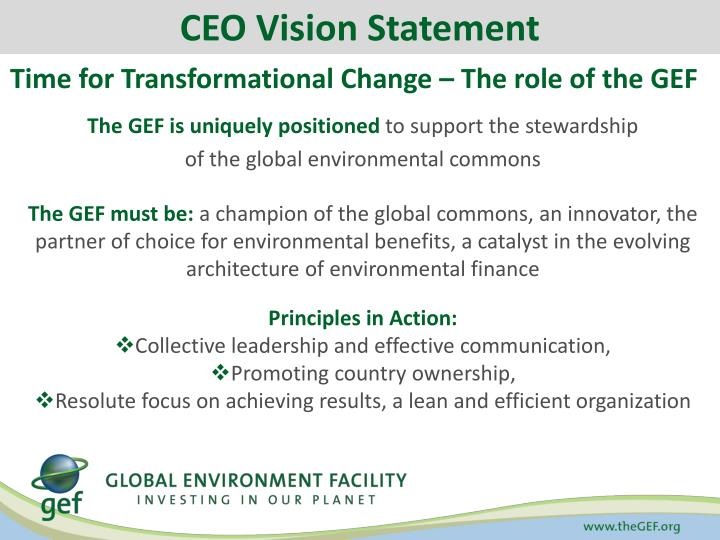 CEO Vision Statement