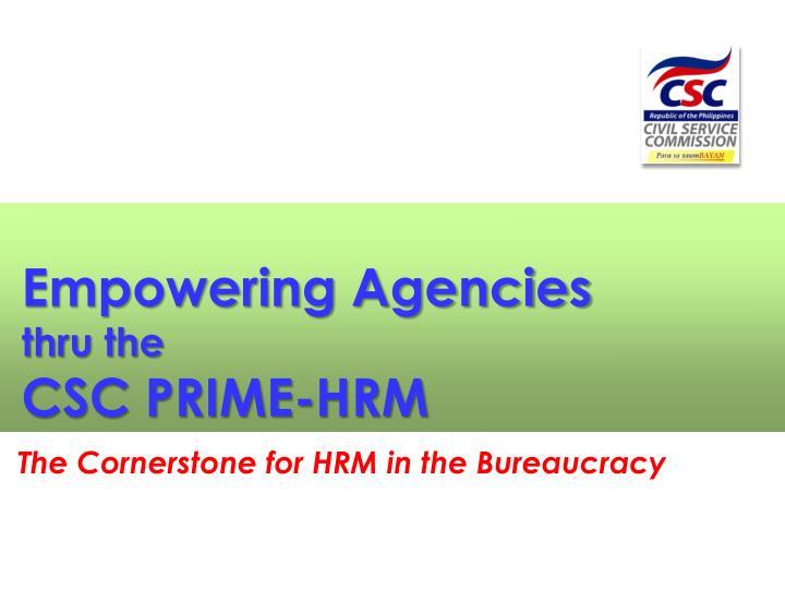 Empowering Agencies