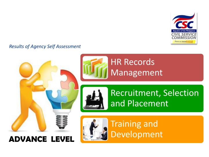 Results of Agency Self Assessment