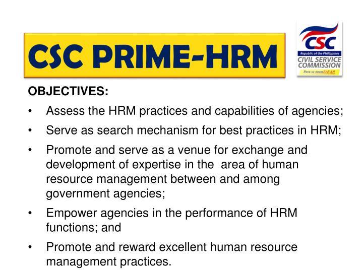 CSC PRIME-HRM