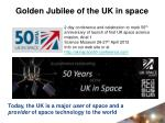 golden jubilee of the uk in space