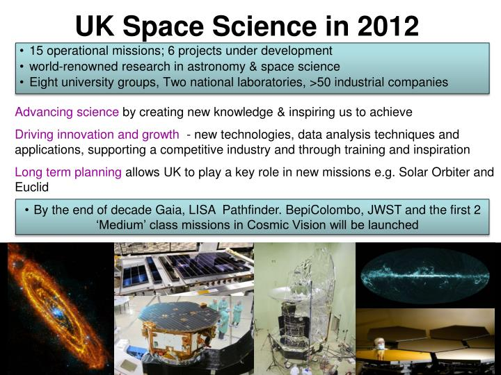 UK Space Science in 2012
