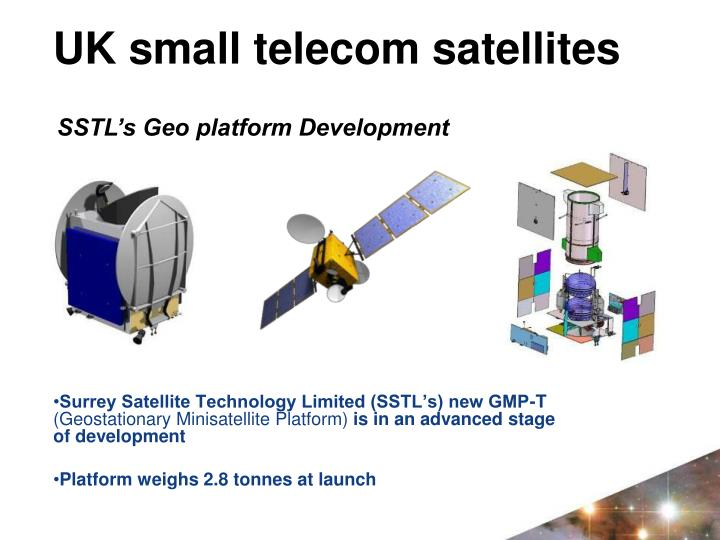 Surrey Satellite Technology Limited (SSTL's) new GMP-T