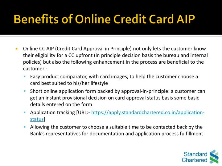 Benefits of Online Credit Card AIP