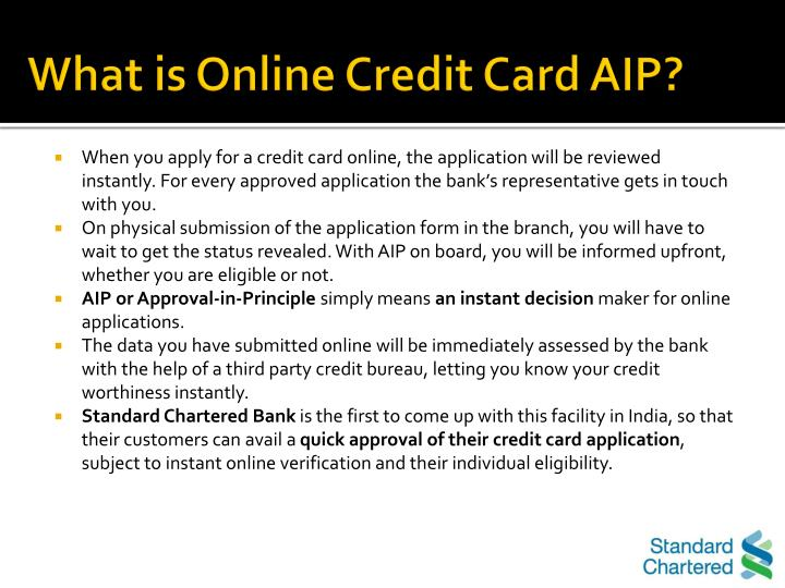 What is Online Credit Card AIP?