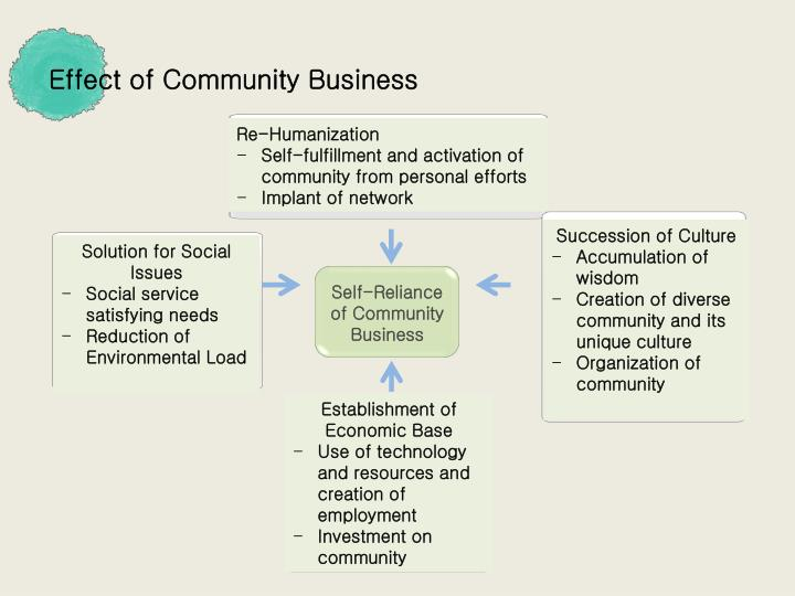 Effect of Community Business