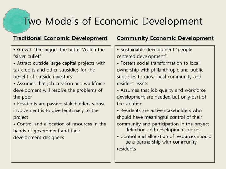 Two Models of Economic Development