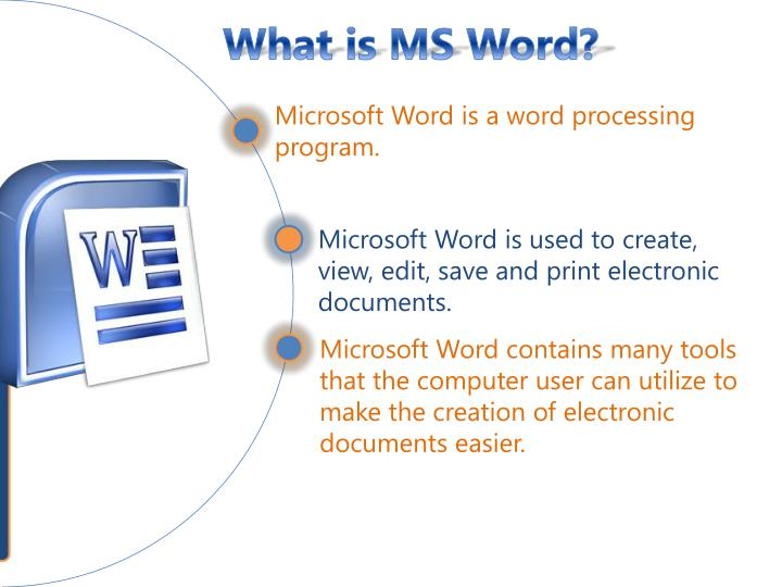 What is MS Word?