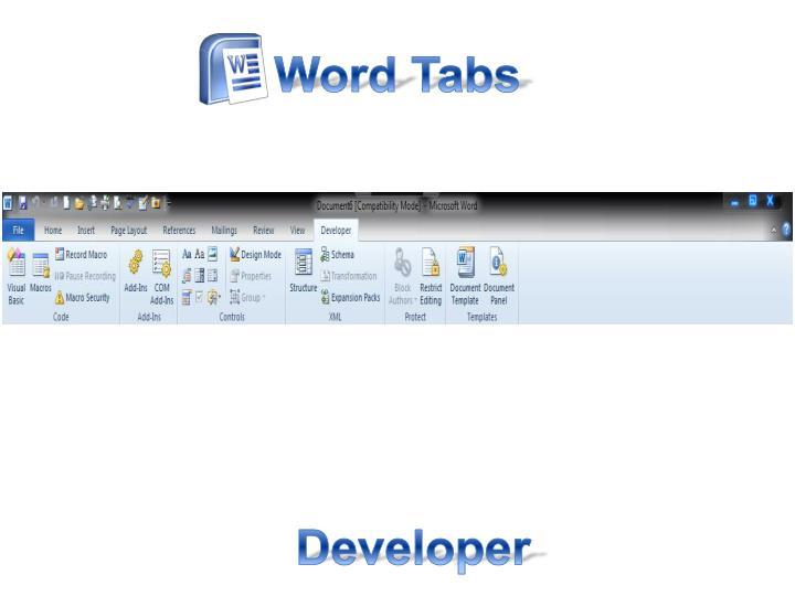 Word Tabs