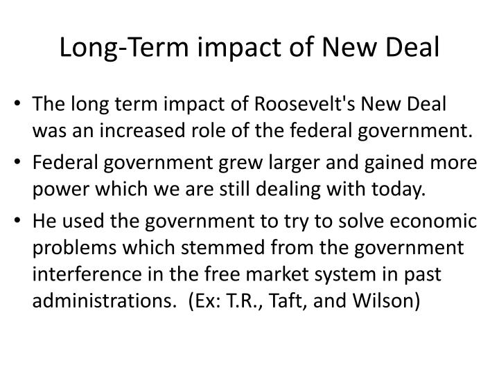 Long-Term impact of New Deal