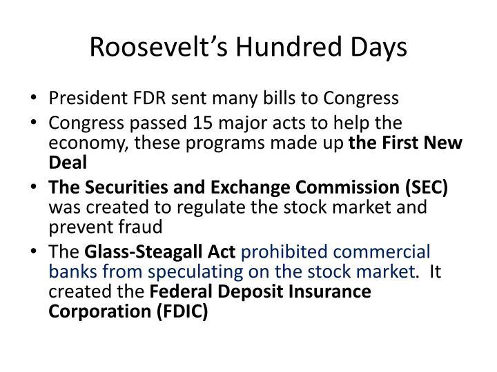 Roosevelt's Hundred Days