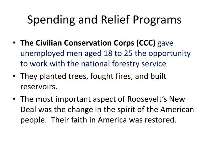 Spending and Relief Programs