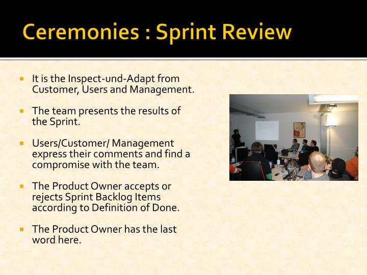 Ceremonies : Sprint Review