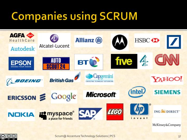 Companies using SCRUM