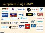companies using scrum