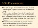 scrum in 100 words