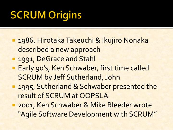 SCRUM Origins