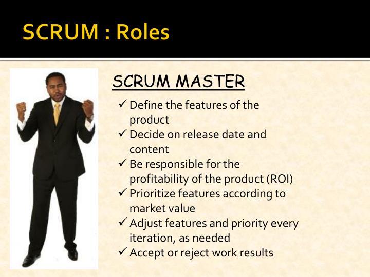 SCRUM : Roles