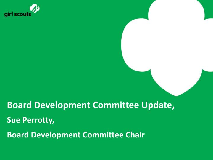 Board Development Committee Update
