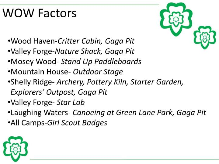 WOW Factors