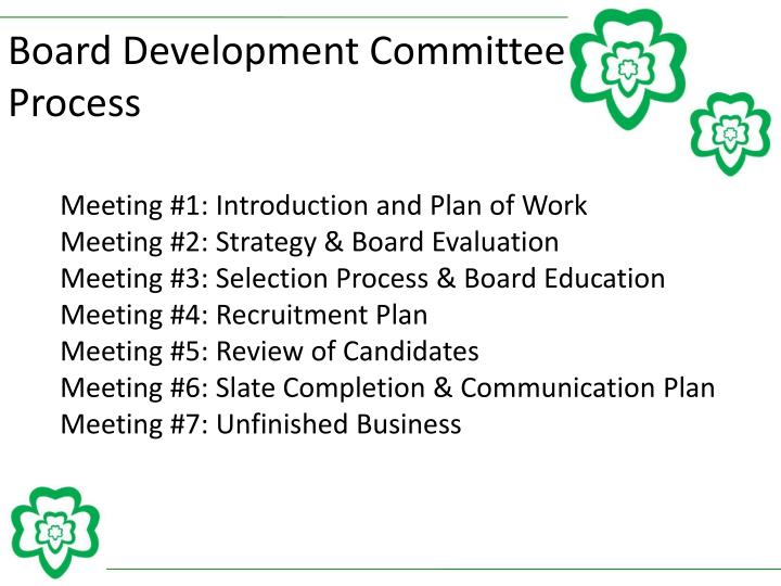 Board Development Committee Process