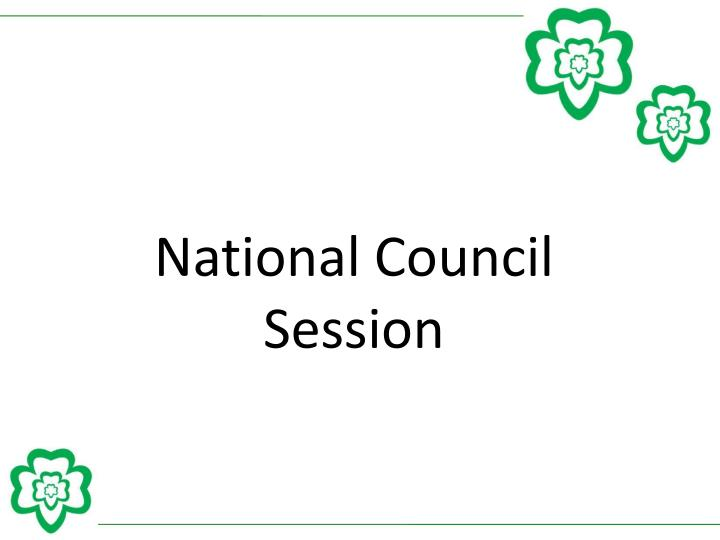 National Council Session