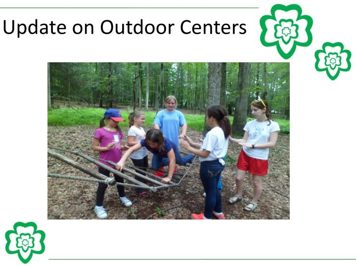 Update on Outdoor Centers
